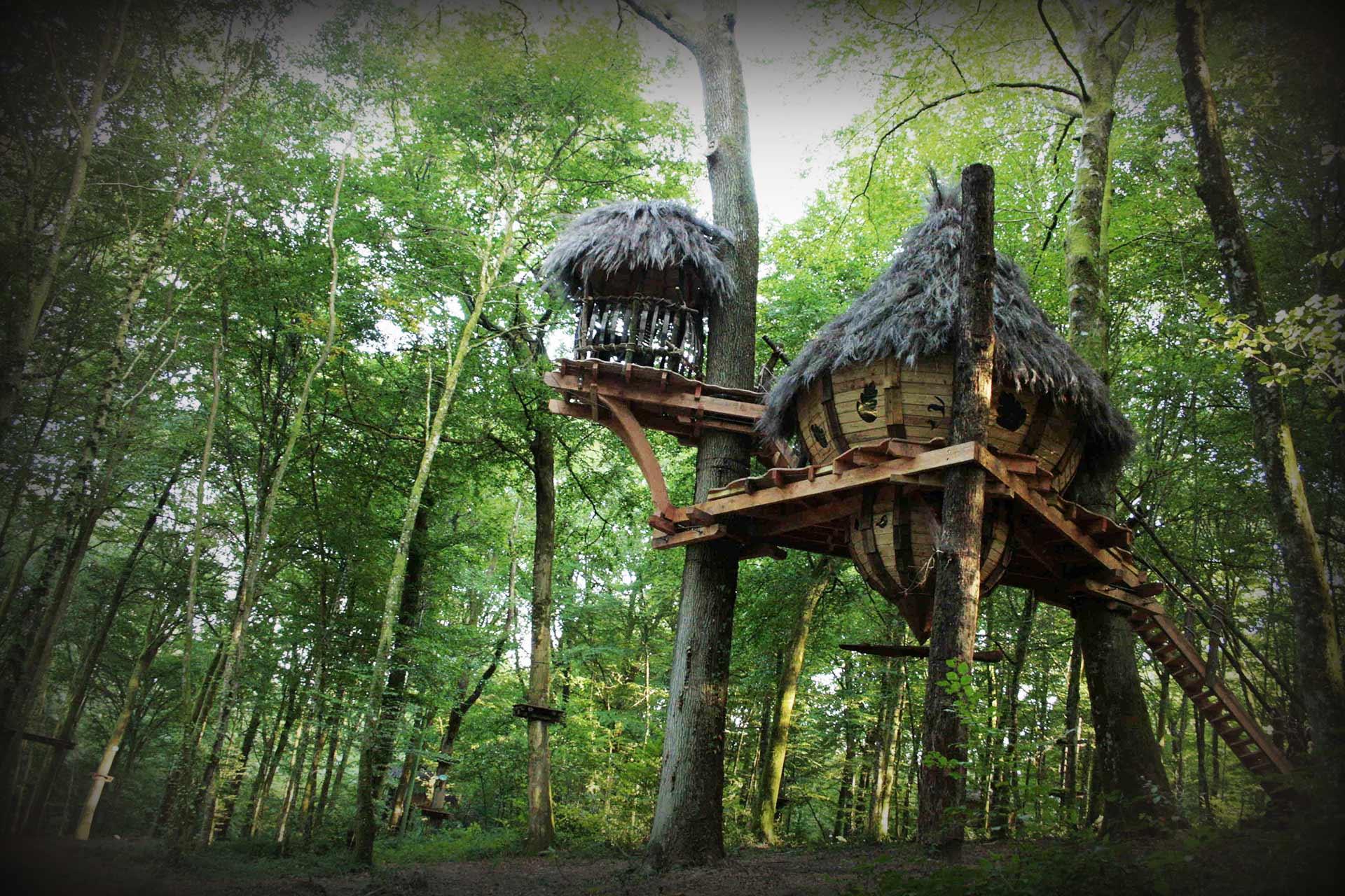 Abane cabane drommen l 39 arbre cabane en haute marne - Construire une maison dans un arbre ...